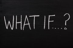 what-if-question-written-used-blackboard-40221662